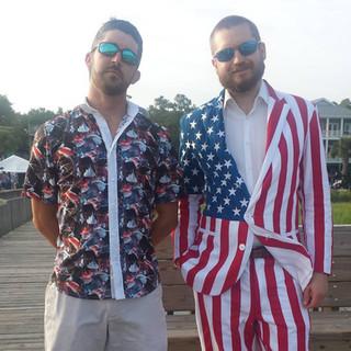 Adam- shirt & Chris-suit