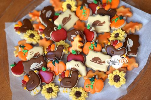 Thanksgiving Mini Cookie Platter