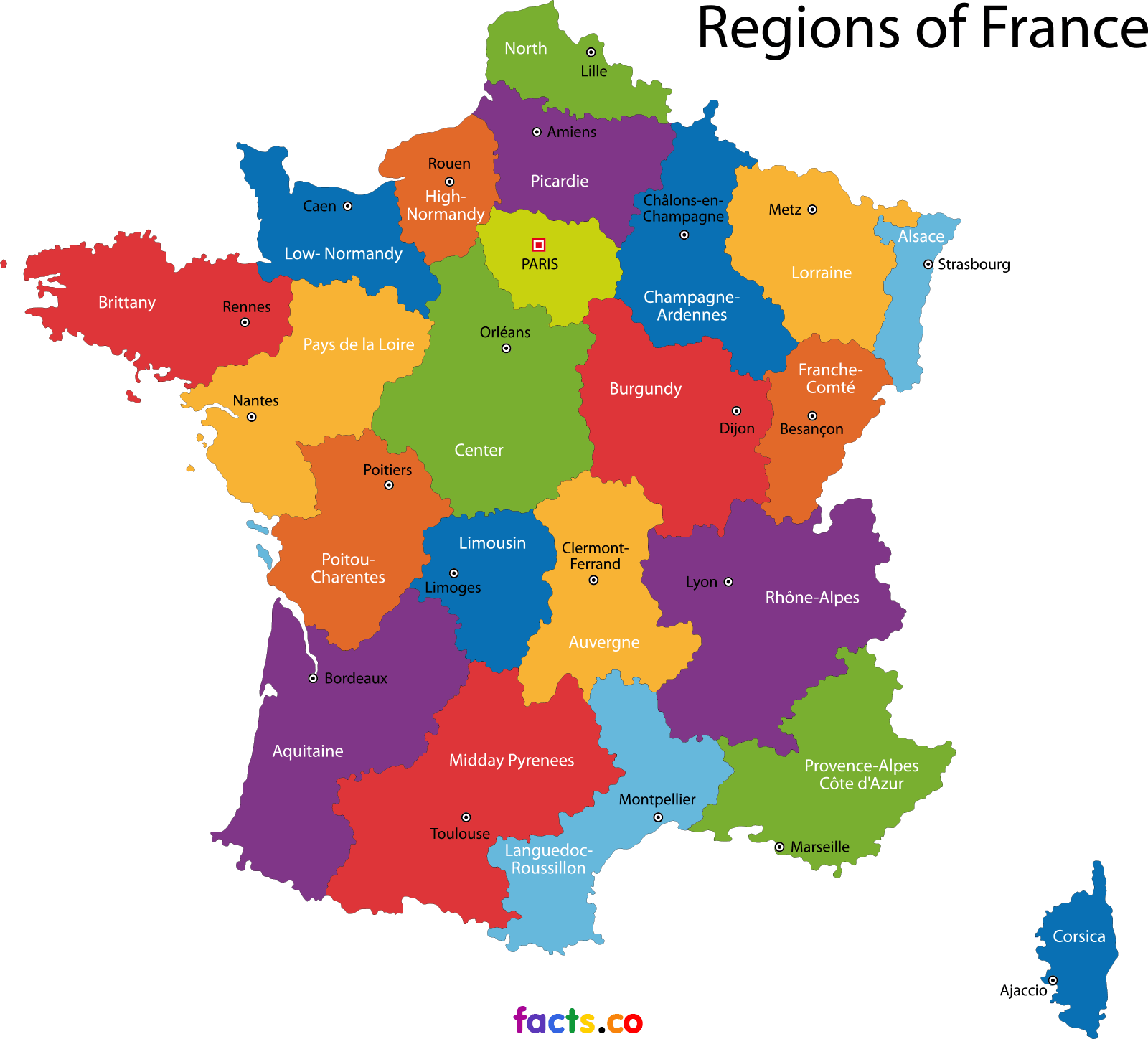 Map Of France With States.Top 10 Punto Medio Noticias France Map With All States