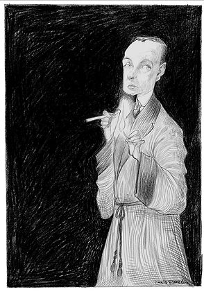 Saki (H. H. Munro) illustration by Chris Riddell
