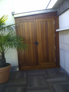 Portes extérieures en iroko