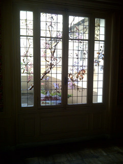 Adaptation de vitraux sur une fenêtre isolante