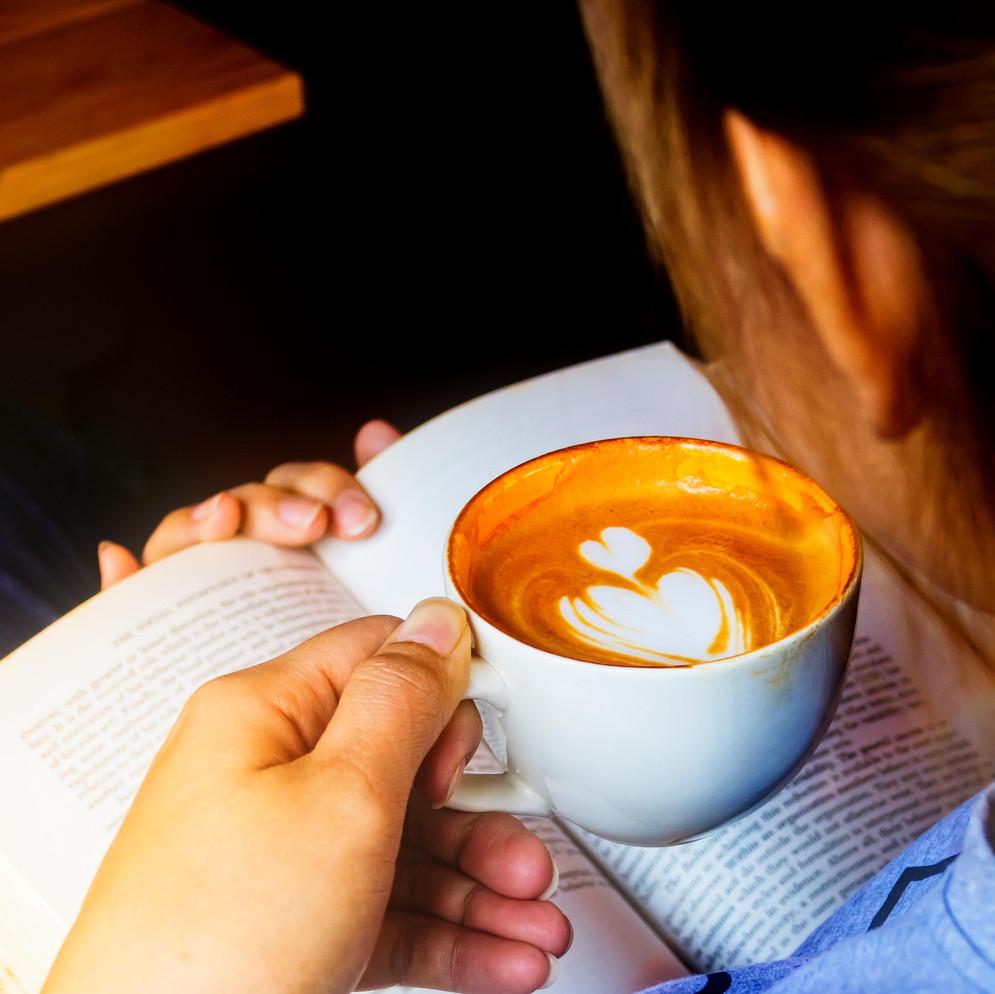 Relaxing cappuccino