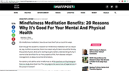 Mindfulness meditation benefits: 20 reasons why it's good for your mental and physical health