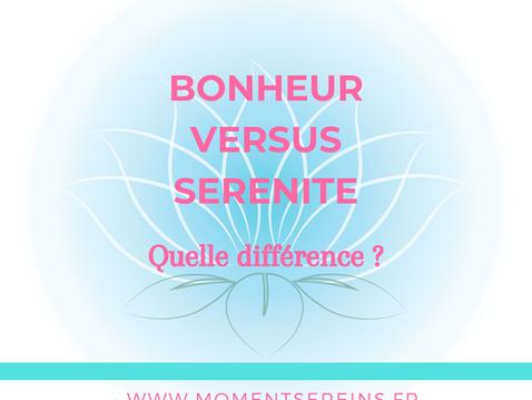 Bonheur versus sérénité : quelle différence ?