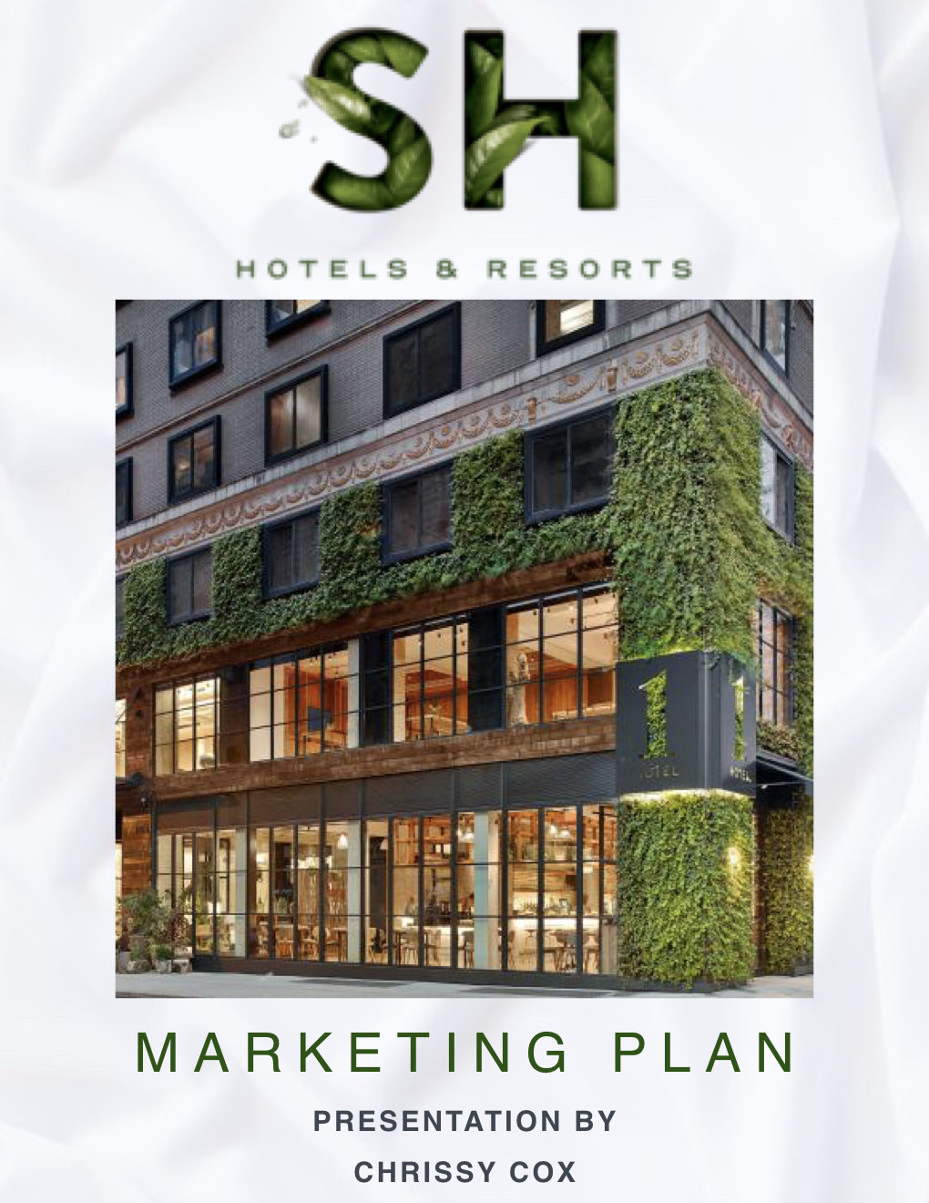 SH Hotels Marketing Plan Cover Photo