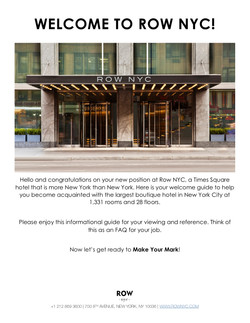 Row NYC New Hire Packet 2