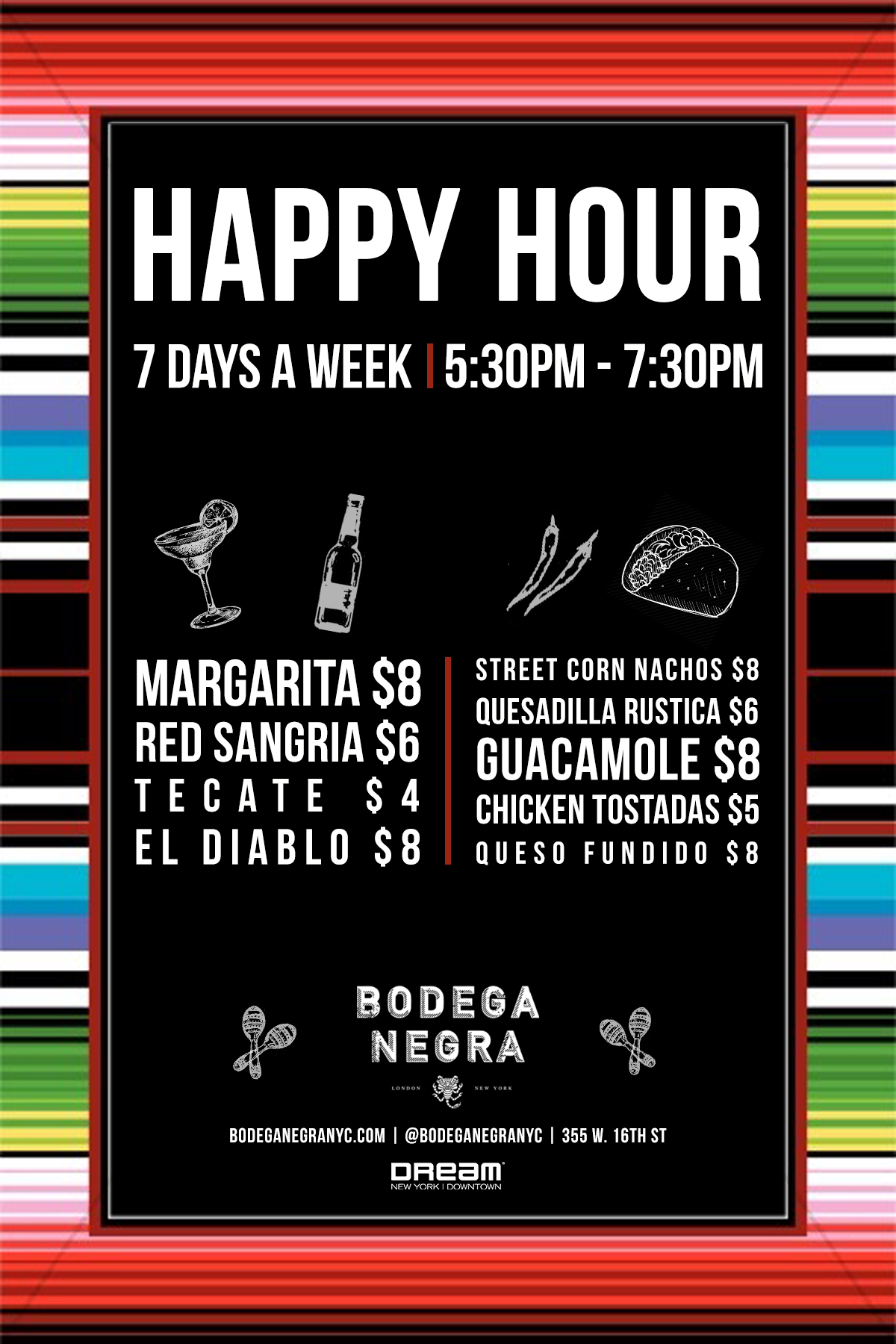 Bodega Negra Happy Hour