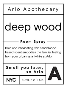 Arlo Room Spray Label