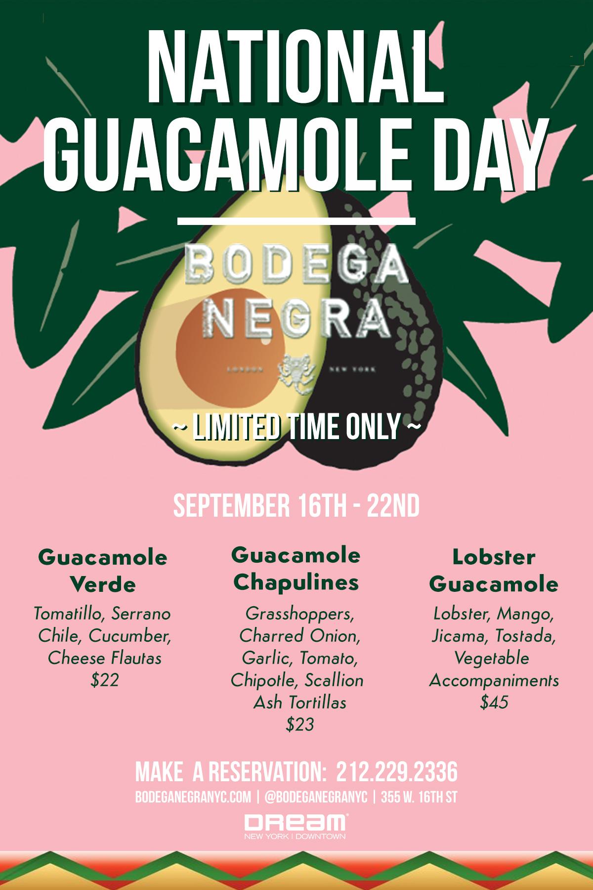 Bodega Negra Guacamole Day
