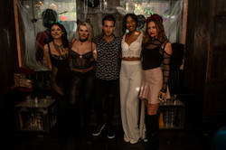 Halloween Bash at Electric Room with Yvonne Najor, Lindsey Hubbs, Jordan Verroi, and Chrissy Cox