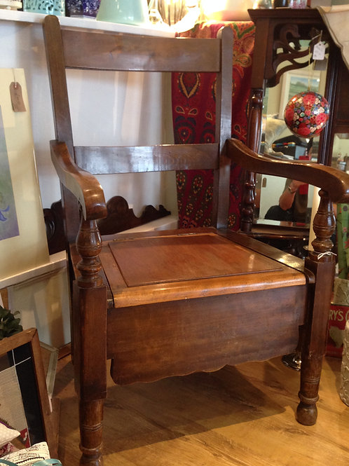 Victorian Commode Chair