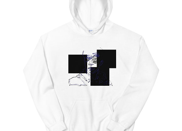 Boxes and a Face: Unisex Hoodie