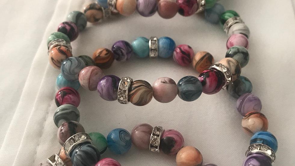 Multi Color Peace Bracelet