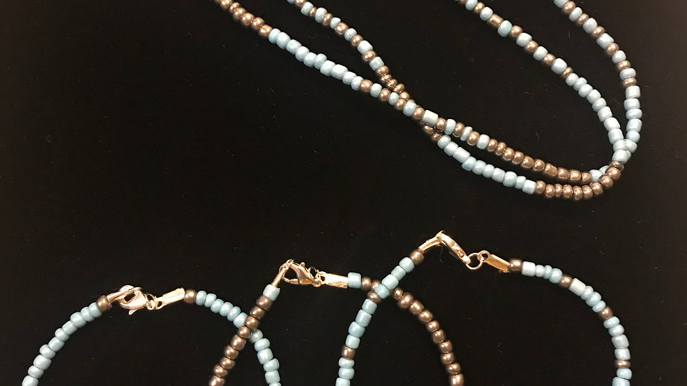 Waist Bead and Anklet Set