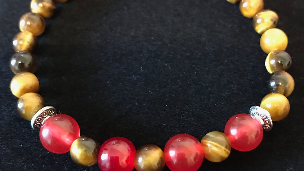 Red Agate and Tiger's Eye