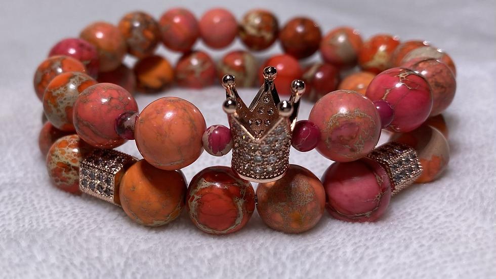 Orange Jasper Crown