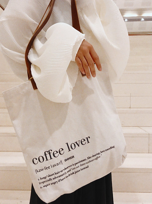#coffeelover tote bag designed by Sii