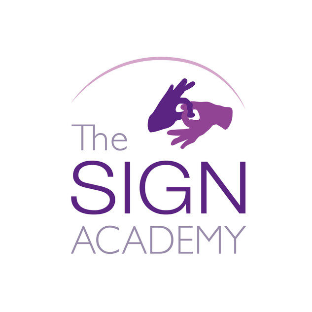 Logo for a sign language business