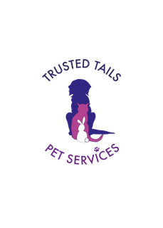 Logo for a dog walking business