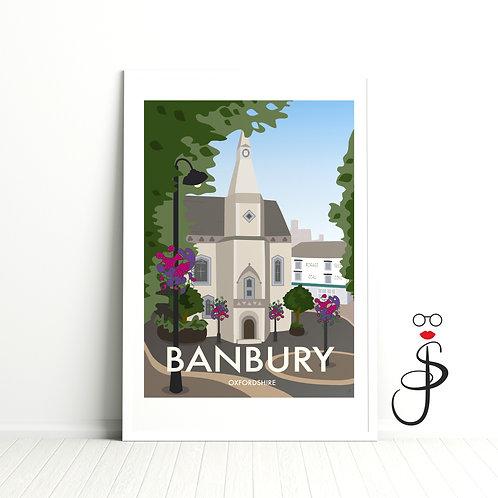 Vintage Style Banbury Art Print