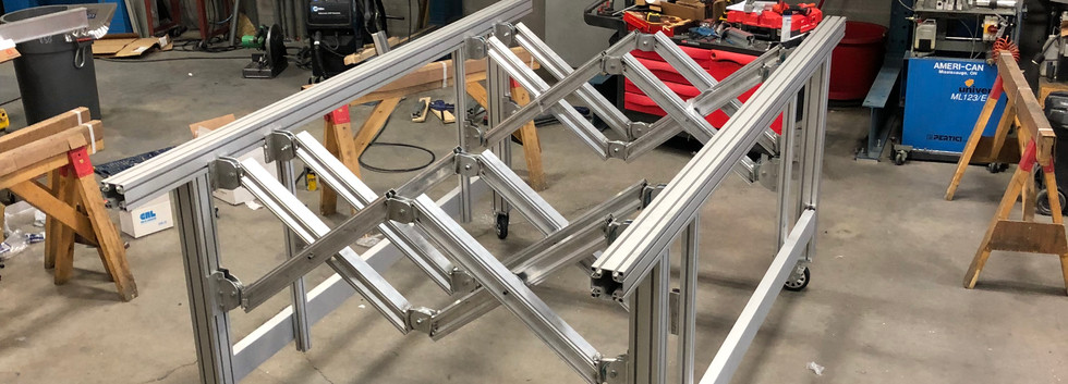 Fully adjustable frame assembly table