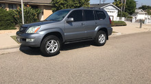 Lexus GX 470.  Sliders, Rock Lights and Suspension upgrades.