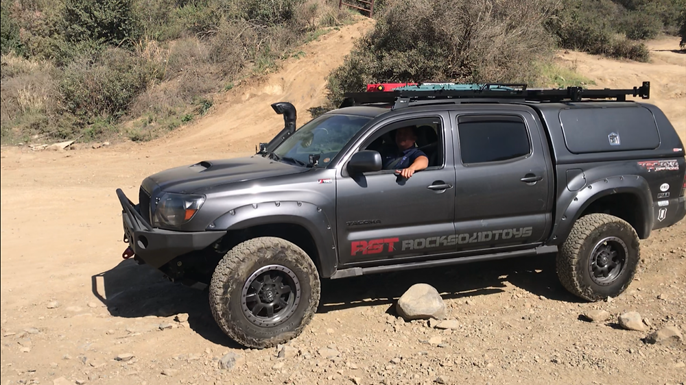 Manny Pena enjoying the freedom his RST conversion 4wd Tacoma now affords him.