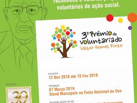 3° Prêmio de Voluntariado Valter Gomes Pinto