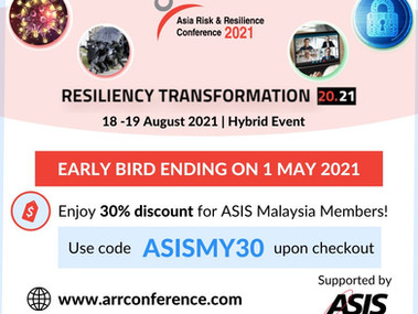 Asia Risk & Resilience Conference 2021 - Resiliency Transformation 2021