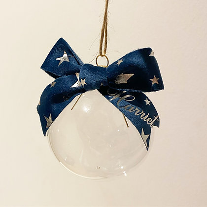 Personalised Christmas Star Bauble