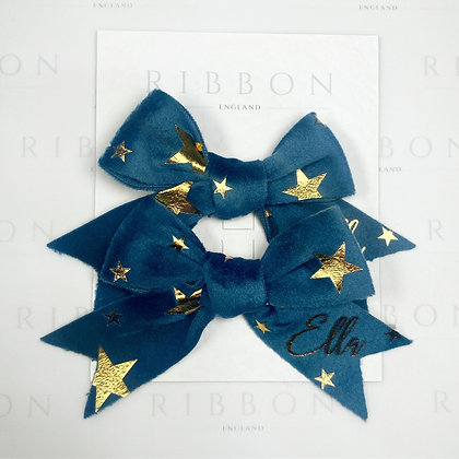 Star Hair Bow Pair