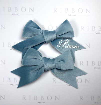 Limited Edition- Baby Blue Bow Pair