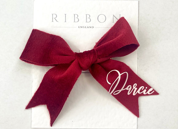 Ruby Red Hair Bow Pair