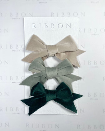 Hair Bow Set- Juniper