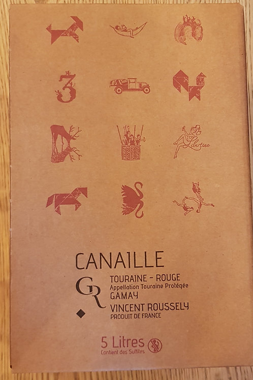 Rouge, Touraine, Roussely, BIB 5L, Canaille (Gamay)