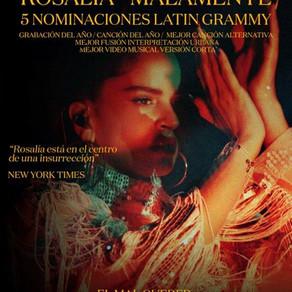 Rosalía tiene 5 nominaciones a los Latin Grammy