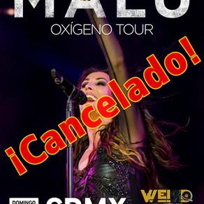 ¡Malú cancela show en México!