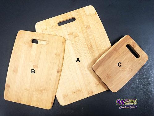 Custom Bamboo Cutting Board (B)