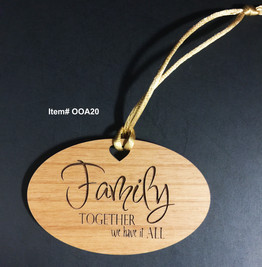 Family together we have it all Ornament