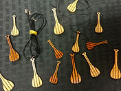 Hawaiian Wood Canoe Paddle Pendants