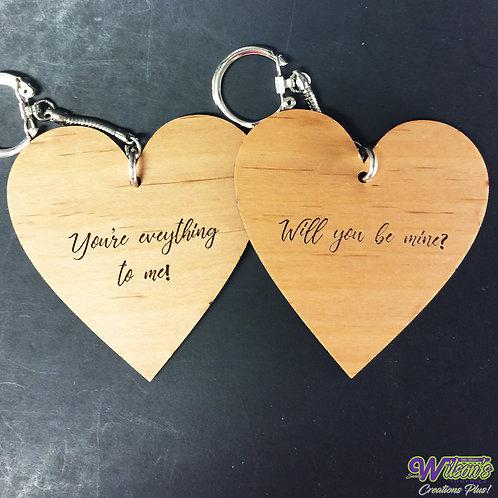 Heart-Shaped Keychains