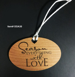 Season everything with love Ornament