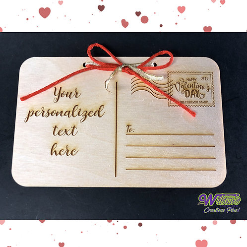 Wooden Postcard with Ribbon