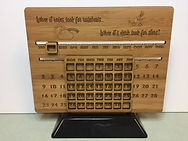 Custom made Wood Perpetual Calender