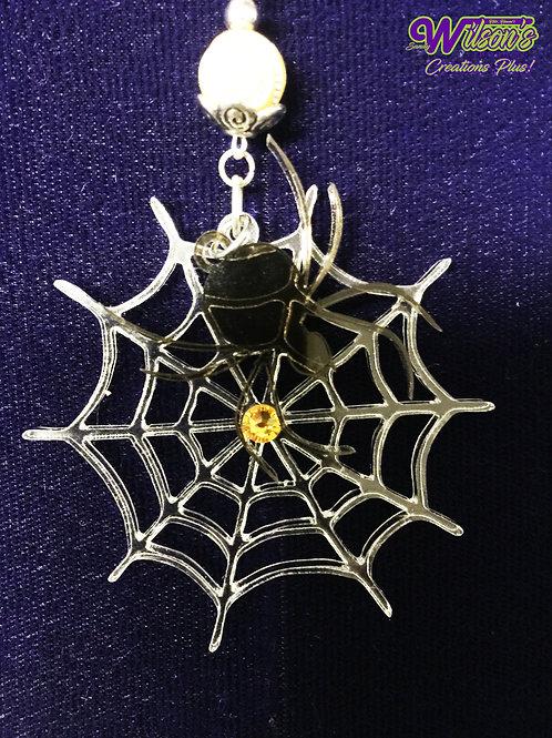 Spider & Web Pendant