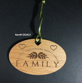 The best things in life aren't things, Family Ornament