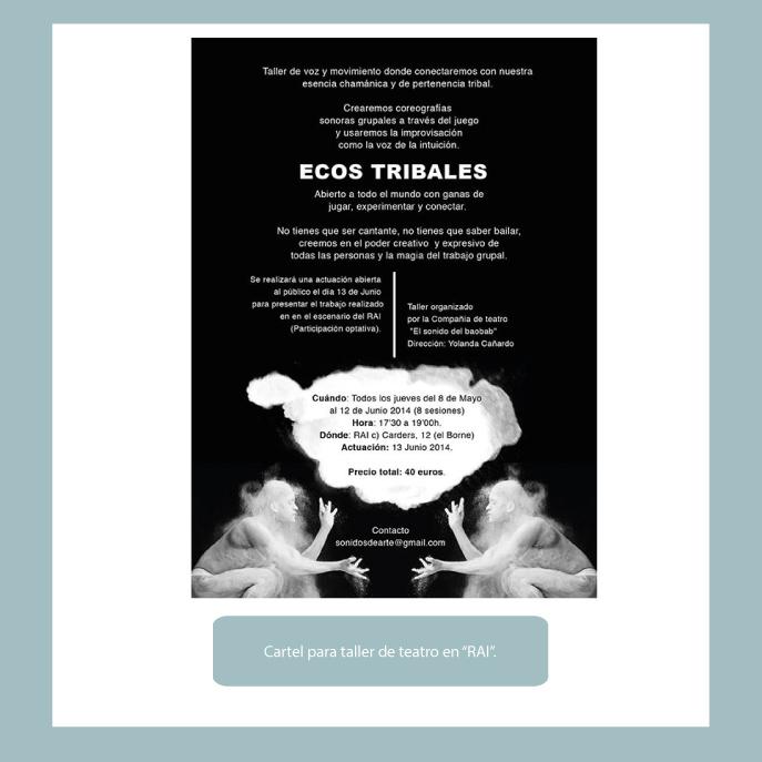 Poster para taller teatro