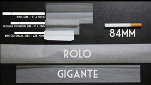 O comprimento da seda é o que vai determinar o tamanho do cigarro.