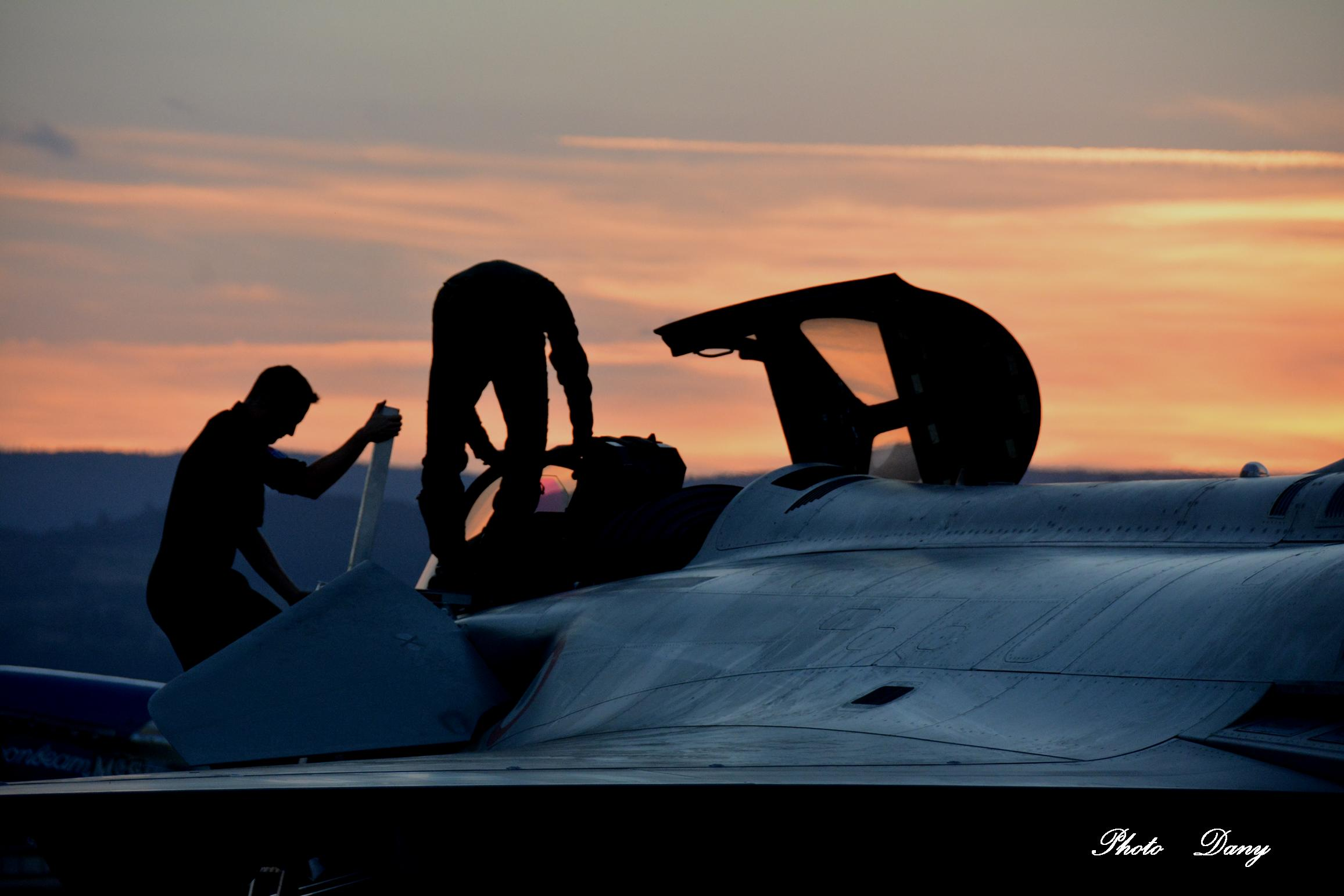 Rafale sunset - 2